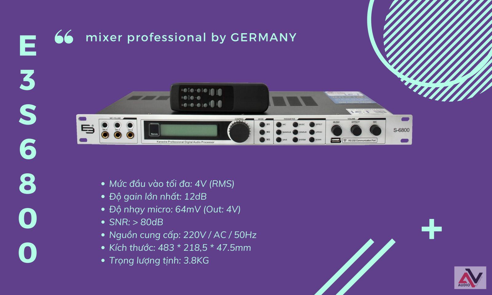 mixer digital e3 s6800
