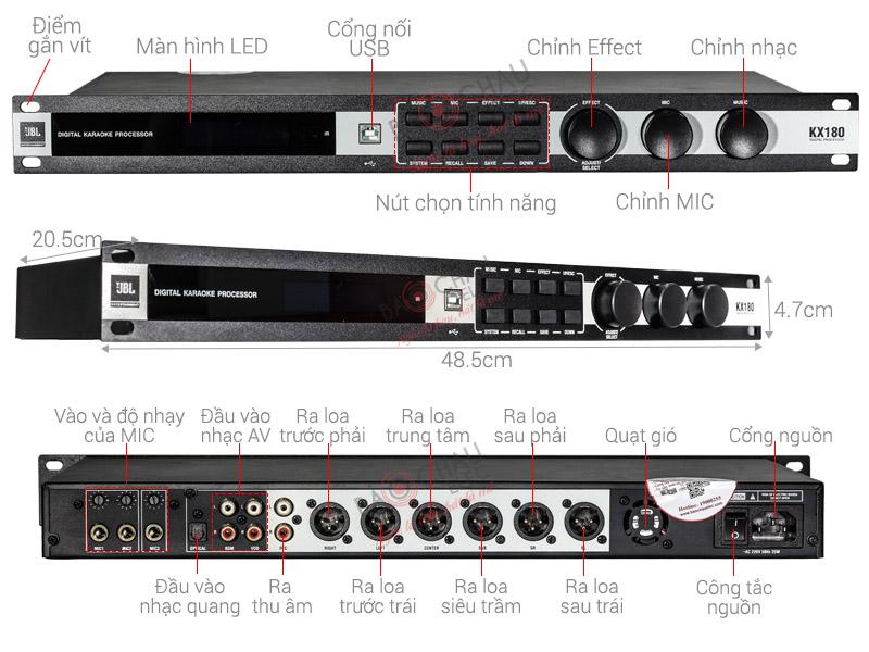 Mixer-karaoke-JBL-KX-180